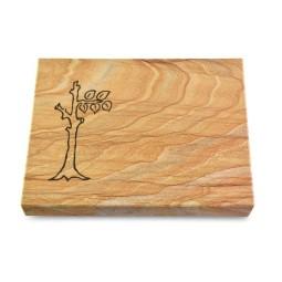 Grabtafel Omega Marmor Pure Baum 2