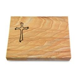 Grabtafel Omega Marmor Pure Kreuz 1