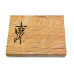 Grabtafel Omega Marmor Pure Kreuz 3