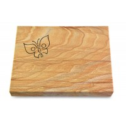 Grabtafel Omega Marmor Pure Papillon