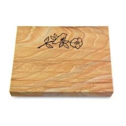 Grabtafel Omega Marmor Pure Rose 1