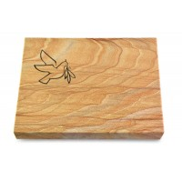 Grabtafel Omega Marmor Pure Taube 1
