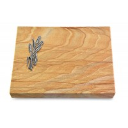 Grabtafel Omega Marmor Pure Ähren 1 (Alu)