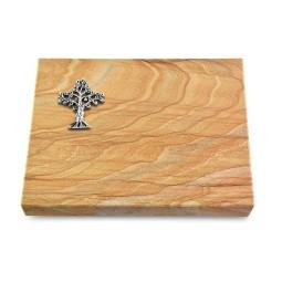 Grabtafel Omega Marmor Pure Baum 2 (Alu)