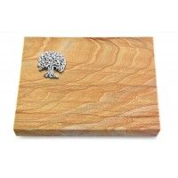 Grabtafel Omega Marmor Pure Baum 3 (Alu)