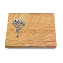 Grabtafel Omega Marmor Pure Lilie (Alu)