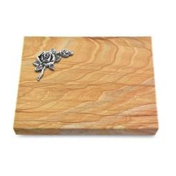 Grabtafel Omega Marmor Pure Rose 1 (Alu)