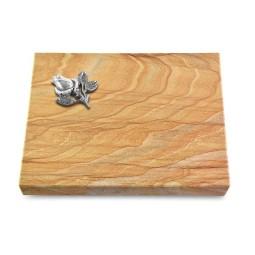 Grabtafel Omega Marmor Pure Rose 3 (Alu)