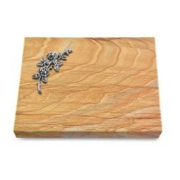 Grabtafel Omega Marmor Pure Rose 5 (Alu)