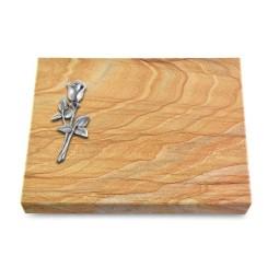 Grabtafel Omega Marmor Pure Rose 8 (Alu)