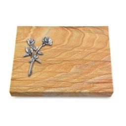 Grabtafel Omega Marmor Pure Rose 10 (Alu)