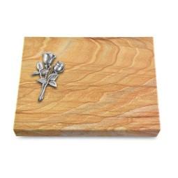 Grabtafel Omega Marmor Pure Rose 11 (Alu)