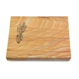 Grabtafel Omega Marmor Pure Ähren 1 (Bronze)