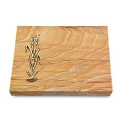 Grabtafel Omega Marmor Pure Ähren 2 (Bronze)