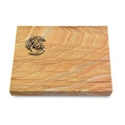 Grabtafel Omega Marmor Pure Baum 1 (Bronze)