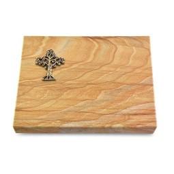 Grabtafel Omega Marmor Pure Baum 2 (Bronze)