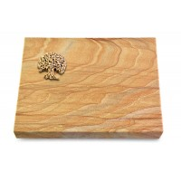 Grabtafel Omega Marmor Pure Baum 3 (Bronze)