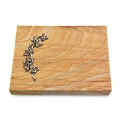Grabtafel Omega Marmor Pure Efeu (Bronze)