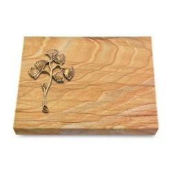 Grabtafel Omega Marmor Pure Gingozweig 1 (Bronze)
