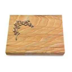 Grabtafel Omega Marmor Pure Gingozweig 2 (Bronze)