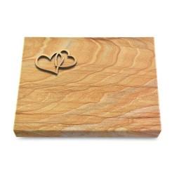 Grabtafel Omega Marmor Pure Herzen (Bronze)