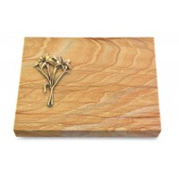 Grabtafel Omega Marmor Pure Lilie (Bronze)