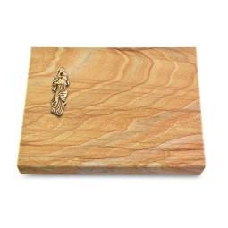 Grabtafel Omega Marmor Pure Maria (Bronze)