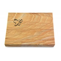 Grabtafel Omega Marmor Pure Papillon (Bronze)