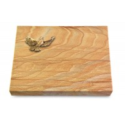 Grabtafel Omega Marmor Pure Taube (Bronze)