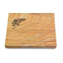 Grabtafel Omega Marmor Pure Rose 1 (Bronze)