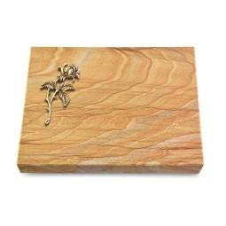 Grabtafel Omega Marmor Pure Rose 2 (Bronze)