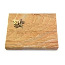 Grabtafel Omega Marmor Pure Rose 3 (Bronze)