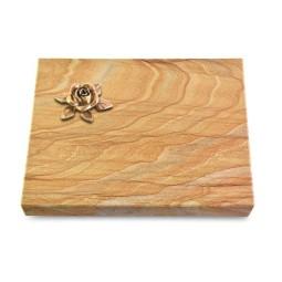 Grabtafel Omega Marmor Pure Rose 4 (Bronze)