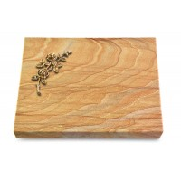 Grabtafel Omega Marmor Pure Rose 5 (Bronze)