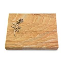 Grabtafel Omega Marmor Pure Rose 6 (Bronze)