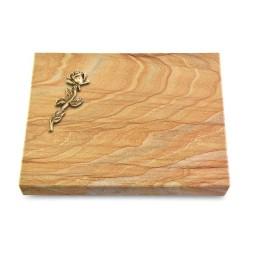 Grabtafel Omega Marmor Pure Rose 7 (Bronze)