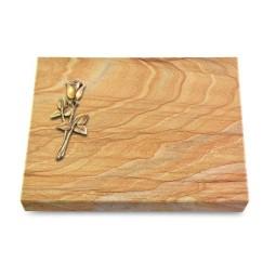 Grabtafel Omega Marmor Pure Rose 8 (Bronze)