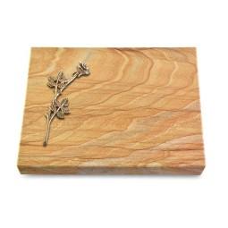 Grabtafel Omega Marmor Pure Rose 9 (Bronze)