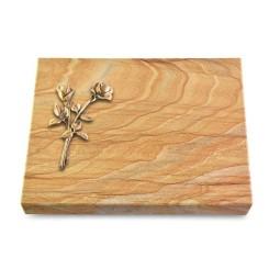 Grabtafel Omega Marmor Pure Rose 10 (Bronze)