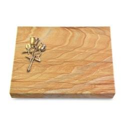 Grabtafel Omega Marmor Pure Rose 11 (Bronze)