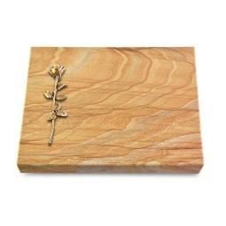 Grabtafel Omega Marmor Pure Rose 12 (Bronze)