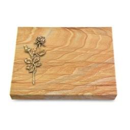 Grabtafel Omega Marmor Pure Rose 13 (Bronze)