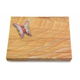 Grabtafel Omega Marmor Pure Papillon 1 (Color)