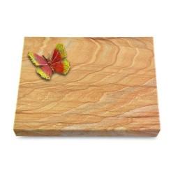 Grabtafel Omega Marmor Pure Papillon 2 (Color)