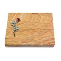 Grabtafel Omega Marmor Pure Rose 4 (Color)