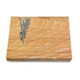 Grabtafel Omega Marmor Delta Ähren 1 (Alu)