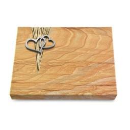 Grabtafel Omega Marmor Delta Herzen (Alu)