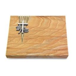 Grabtafel Omega Marmor Delta Kreuz 1 (Alu)