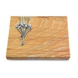 Grabtafel Omega Marmor Delta Lilie (Alu)