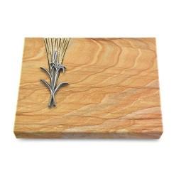 Grabtafel Omega Marmor Delta Lilienzweig (Alu)